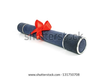 Photo of Diploma tube - stock photo