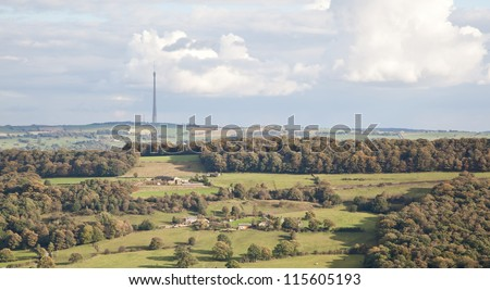 Photo of Emley Moor television mast in West Yorkshire, England, UK
