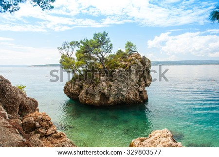 Photo of famous rock in Brela, Makarska Riviera, Croatia