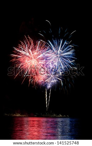 Photo of fantastic fireworks in the shape of heart
