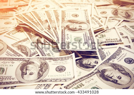 photo of few dolars  - stock photo