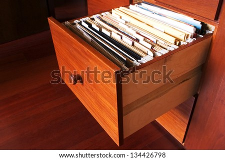Photo of File cabinet - Wood - stock photo