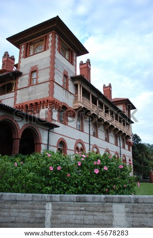 Photo of Flagler College in St. Augustine, Florida, USA - stock photo