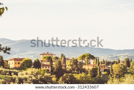 Photo of Florence's landscape with a beautiful light.