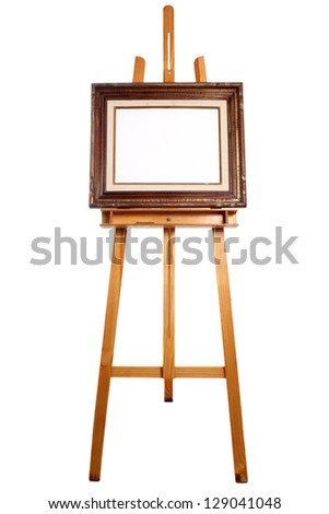 Photo of Frame canvas on easel