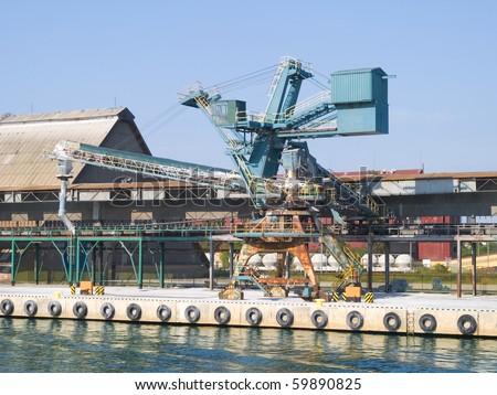 Photo of gantry crane in Gdansk, Poland - stock photo
