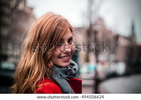 Photo of Girl smiling in Amsterdam, Netherlands