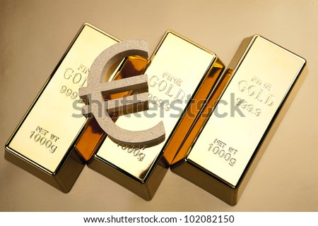 Photo of gold bars, studio shots, closeup