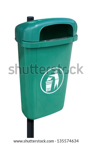 Photo of Green garbage can