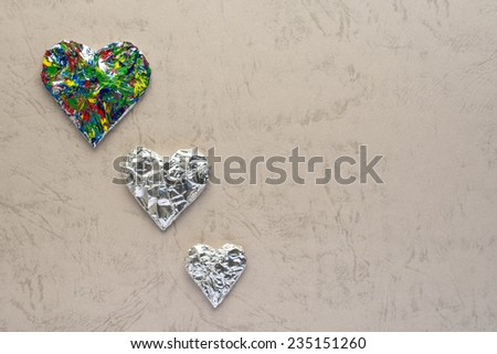 Photo of heart on top of an paper background. - stock photo