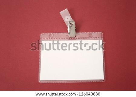 Photo of ID Badge - stock photo