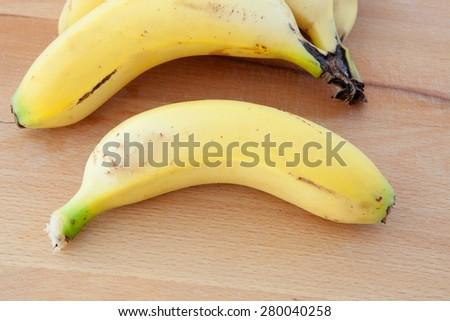 Photo of juicy and energy fruit, banana - stock photo