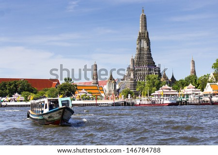Photo of Landscape  Wat Arun Buddhist religious places of importance to the field - stock photo