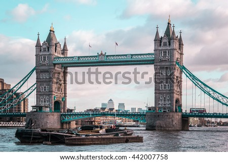 Photo of London Tower Bridge, sunny weather, England