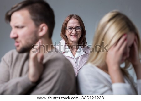 Photo of marital conflict and mean and intrusive mother