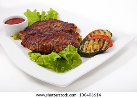 Photo of meat with vegetables