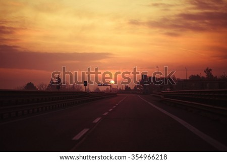 photo of Morning light on the road.