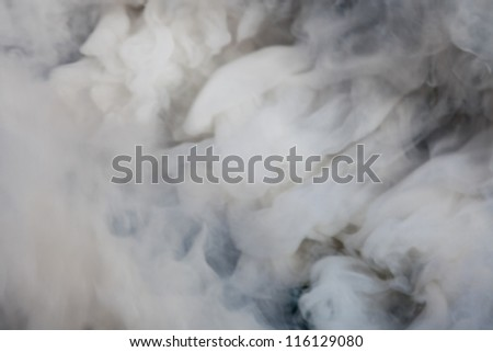 Photo of natural smoke, abstract background - stock photo