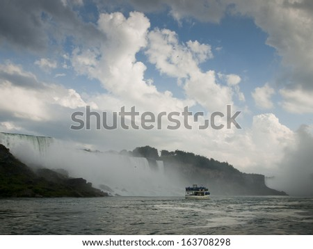 Photo of Niagara Falls from the US side.