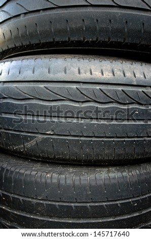 Photo of old used car tires