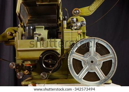 photo of part old war movie projector - stock photo