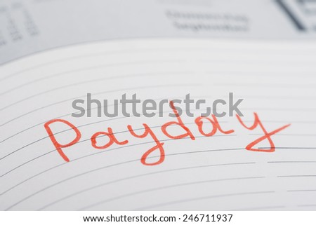 Photo Of Payday Word Written On Diary Book