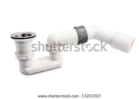 Photo of pipe on white background.