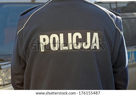 Photo of polish police sign