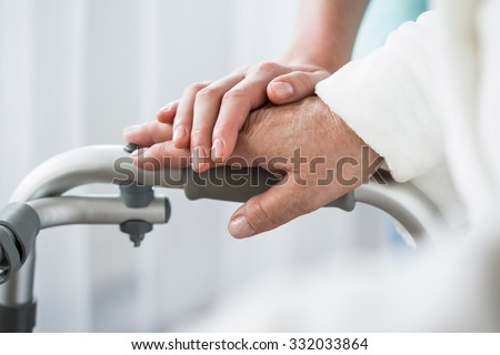 Photo of professional healthcare and support at nursing home - stock photo