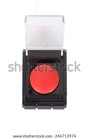 Photo Of Red Emergency Button Over White Background - stock photo