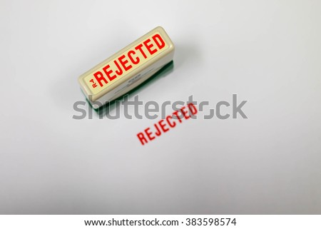 Photo Of Rejected Stamp