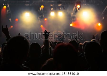 Photo of rock concert, music festival - stock photo