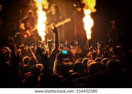 Photo of rock concert, music festival