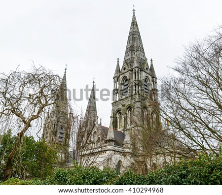Photo of saint Fin Barre's Cathedral in Cork city - stock photo