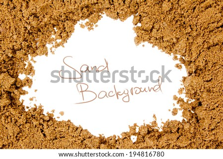 Photo of sand texture with white space - stock photo