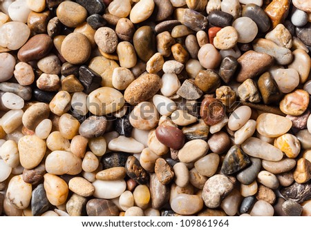 Photo of small smooth river pebbles
