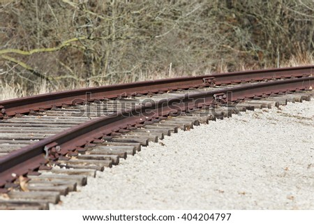 Photo of the beautiful old rusty railway turn