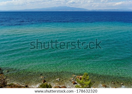 Photo of the beautiful sea in summer