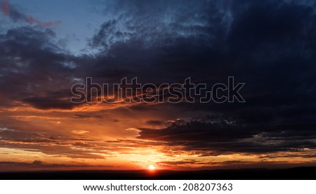 Photo of the beautiful sunset and the wonderful clouds