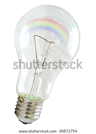 photo of the bulb against the white background