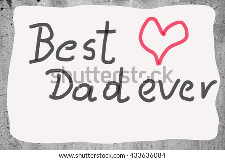 photo of the card on the occasion of Father's Day - stock photo