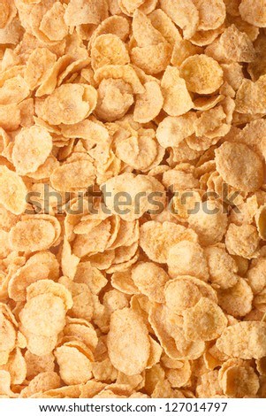 Photo of the cornflakes for texture or background