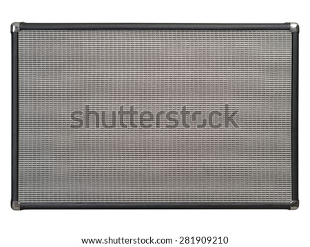 Photo of the front of a guitar amplifier as a background. Clipping path included. - stock photo