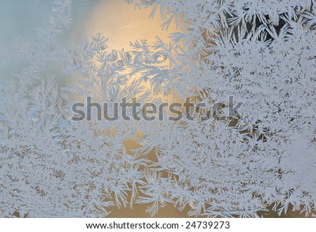 photo of the frosty design on the window
