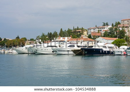 Photo of the harbour in the Croatia - stock photo