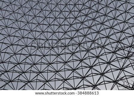 Photo of the interesting pattern of the metall lattice