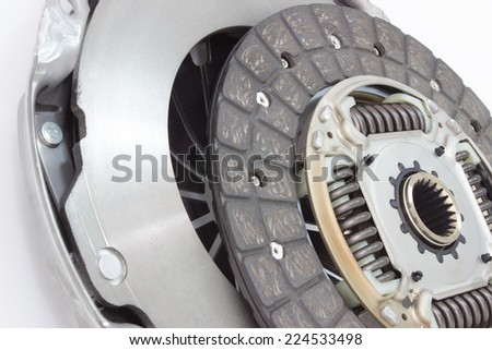 Photo of the new basket and clutch plate. car parts