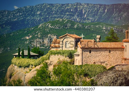 photo of the old monastery in Greece