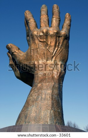 Photo of the Praying Hands.