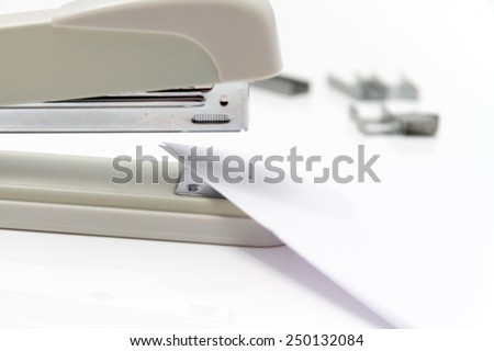 Photo of the Professional stapler - stock photo
